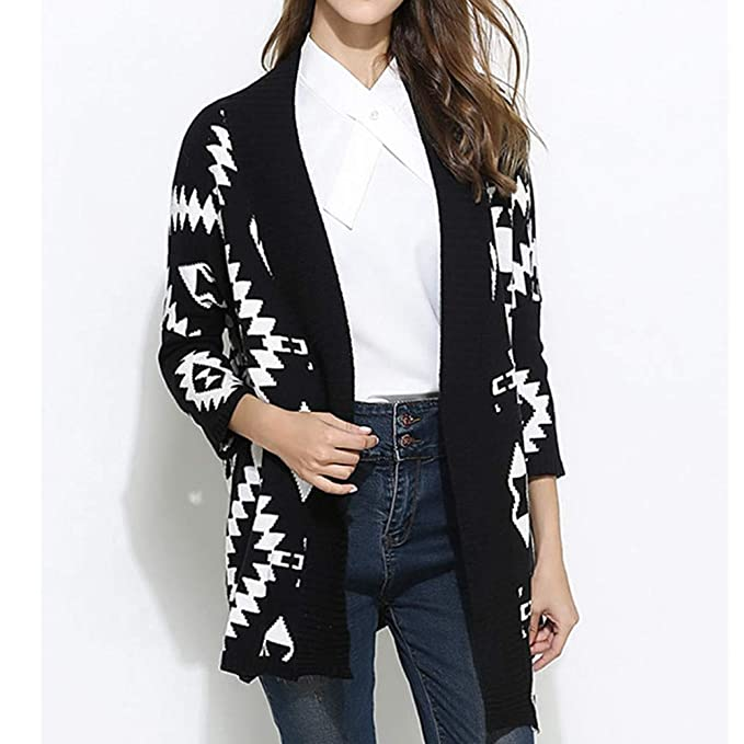 Linlink Mujeres Mangas largas Outwear suéter de Rayas Sueltas Chaqueta con Capucha suéter: Amazon.es: Ropa y accesorios
