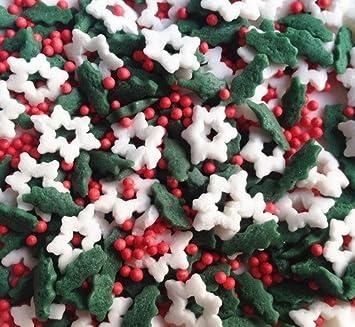 Nochebuena gluten OMG tuerca leche de soja libre decoración de pasteles Bulk Pack.: Amazon.es: Hogar