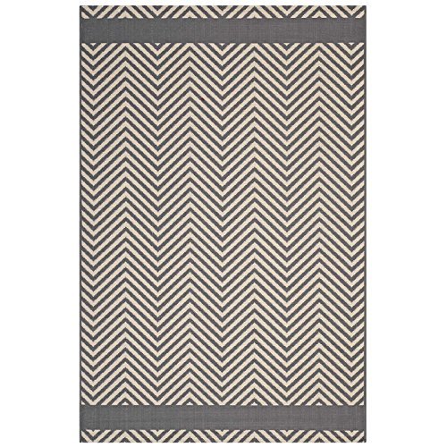 Modway R-1141B-810 Optica Rustic Vintage Moroccan Trellis Area Rug, 8x10, Gray and Beige (Trellis Rustic)