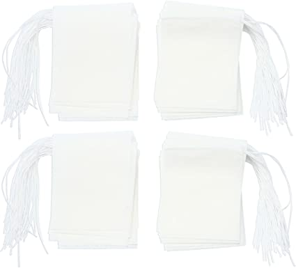 Bolsas de Papel del Filtro de T/é de Bombeo L/ínea de Desechable niceeshop Blanco, M Tama/ño, Conjunto de 100 TM