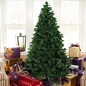 The Finest 6' Feet Super Premium Artificial Christmas Pine Tree with Solid Metal Legs ,1000 Tips, Six Foot Tall 1