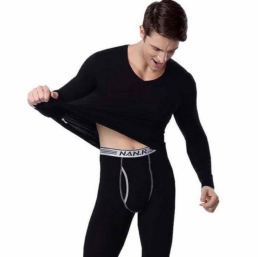 Evedaily - Completo intimo tecnico per Uomo, Pantaloni e maglietta a manica lunga