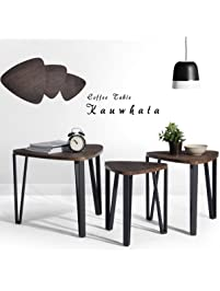 coffee table set of 3 end side table night stand nesting corner table stacking tea table