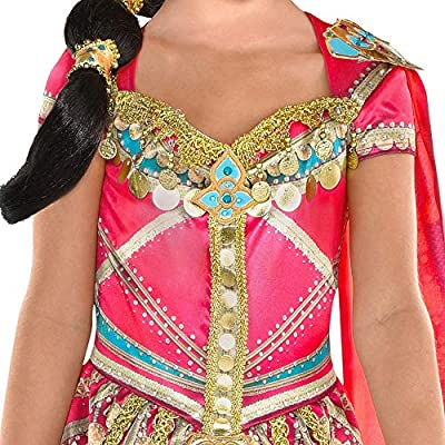 Party City Aladdin Pink Jasmine Costume for Children, Size 3T to 4T, Includes a Fancy Pink Dress with a Matching Shawl: Clothing