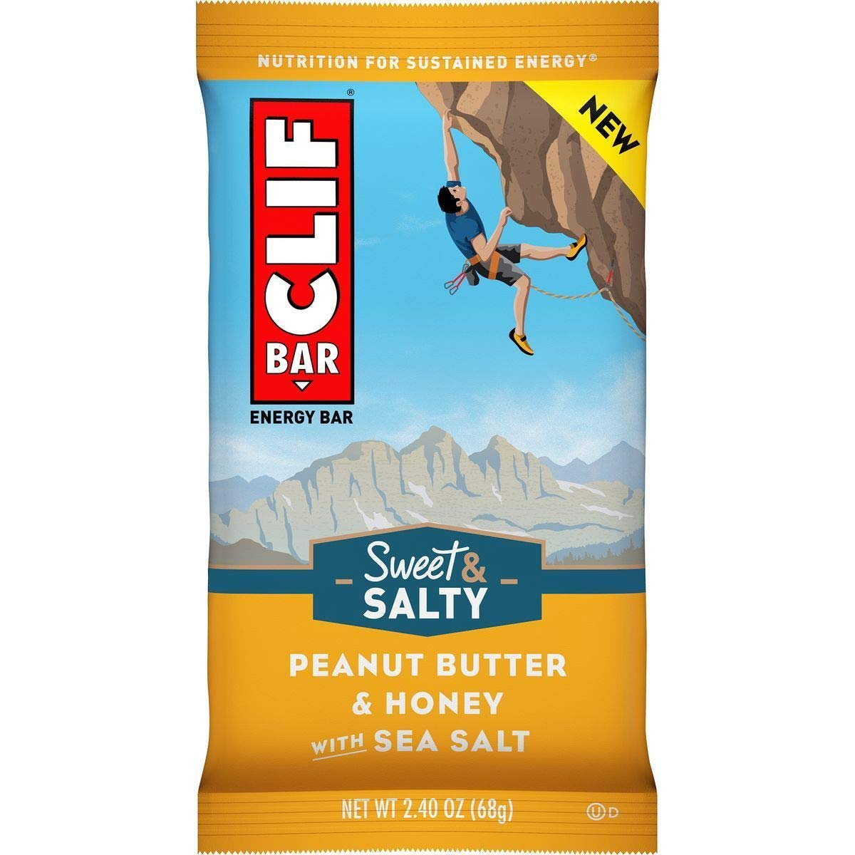 Clifbar Clif Bars - 12 Pack Peanut Butter and Honey w/Sea Salt, One Size by Clif Bar