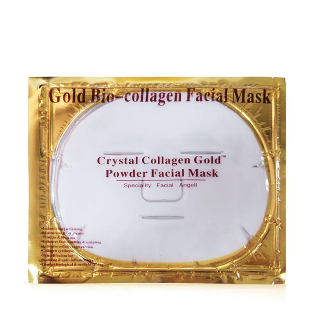 Facial Masks, TONSEE White Bio-Collagen Cream Hydrating Facial Mask Whitening Anti-Aging Repair Skin by TONSEE (Image #1)