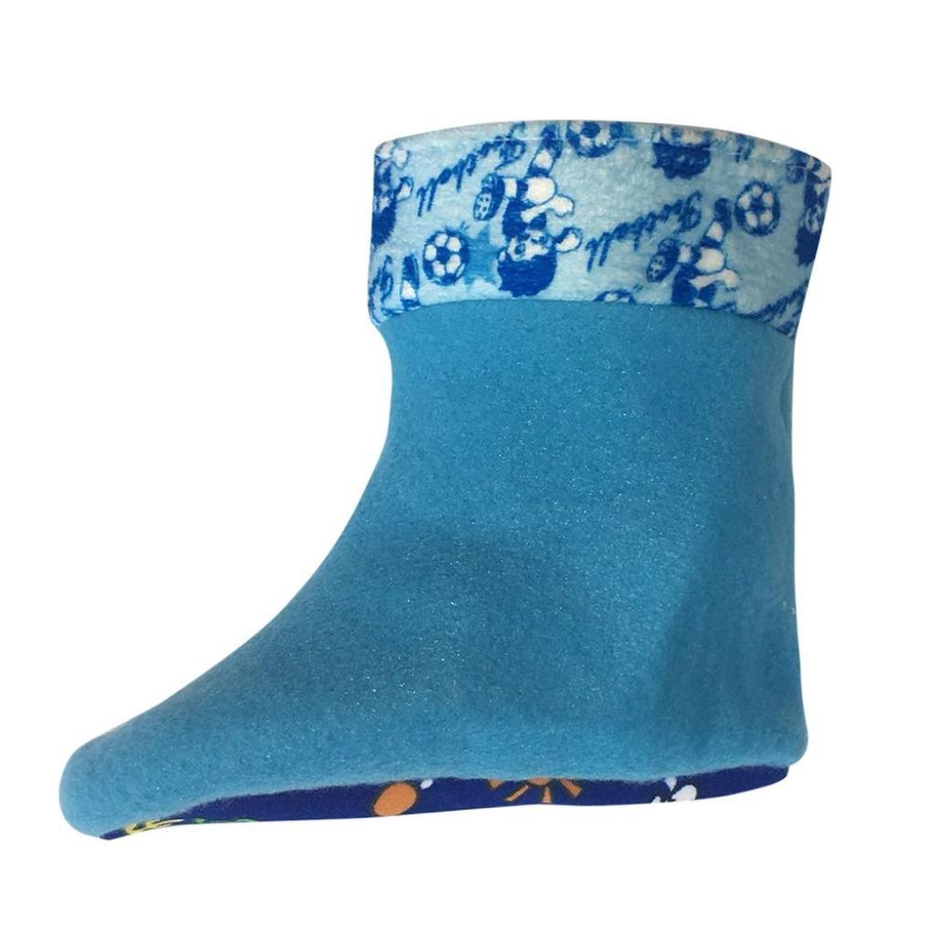 Botrong Kids Children Baby Cartoon Duck Rubber Waterproof Warm Boots Rain Shoes