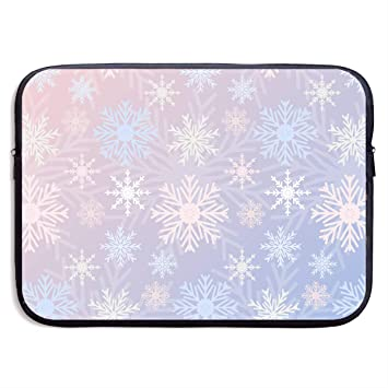61386114 Laptop eeve, Fancy Snowflake 13 Inch 15 Inch Laptop eeve, Water Repellent  Universal Portable