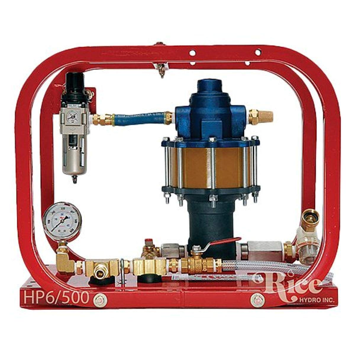 Rice Hydro HP-6/500 Pneumatic Hydrostatic Test Pump with Pressures Up to 500 psi, 6 gpm