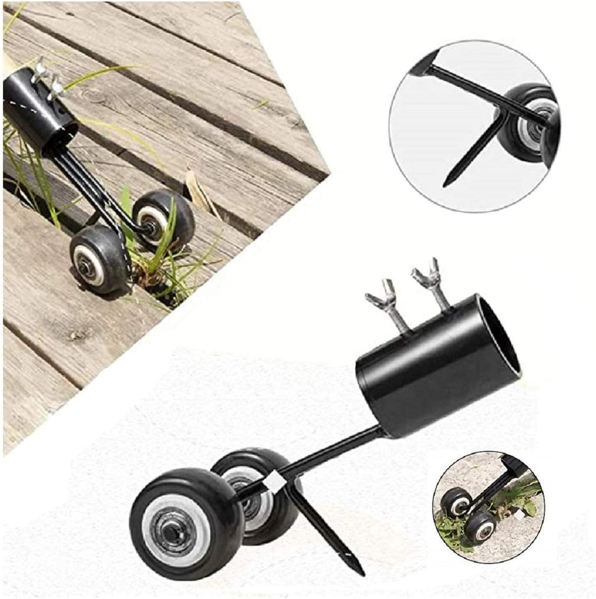 SBSNM Mintiml Weeds Snatcher No-Bend Weeding Gardening Weeds Snatcher,Garden Stand-Up Weederand Root Removal Tool