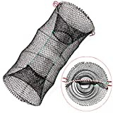 "1. Drasry Crab Trap Bait Lobster Crawfish Shrimp Portable Folded Cast Net Collapsible Fishing Traps Nets Fishing Accessories Black 23.6"" x 11.8"" (60cm x 30cm) (1 PCS)"