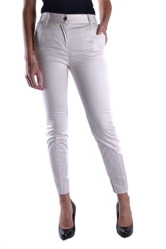 Dolce E Gabbana Mujer Mcbi099250o Blanco Algodon Pantalón