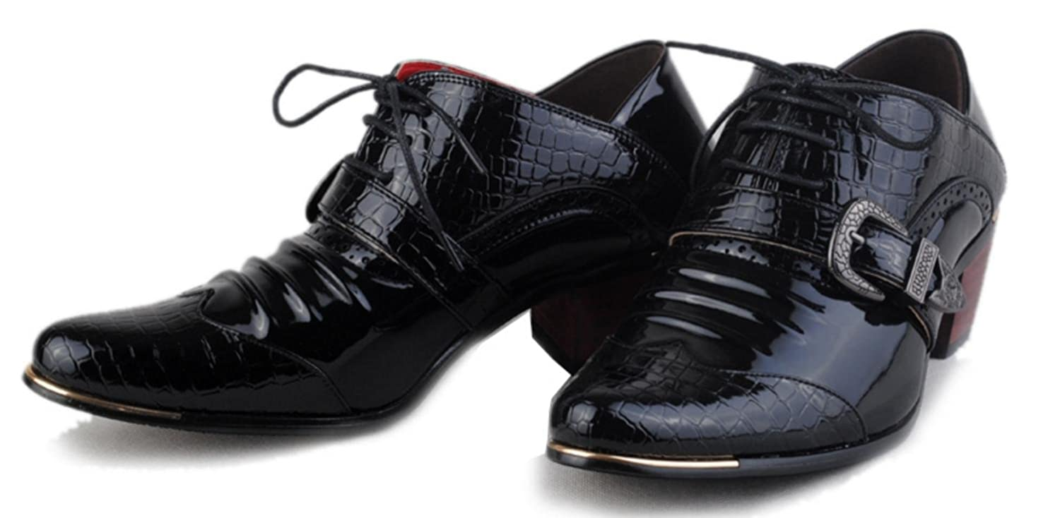 HYLM English Banquet Shoes Increase Men'S Shoes Business Men'S Crocodile  Pattern Casual Shoes Hair Stylist Pointed Shoes: Amazon.co.uk: Sports &  Outdoors