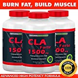 CLA Forte - #1 Natural Fat Burner - Maximum Strength - 1500mg, 120 Softgels - Made with 100% Pure Safflower Oil - High Potency CLA Supplement - Achieve Weight Loss Goals - Reduce Belly Fat - Build Muscle Mass - Better than Diet Pills! (3)