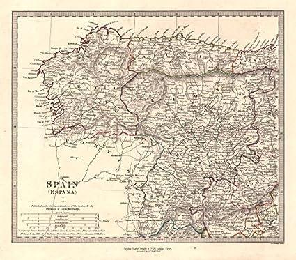 Map Of Spain Zamora.Amazon Com Spain Nw Galicia Leon Asturias Zamora Palencia