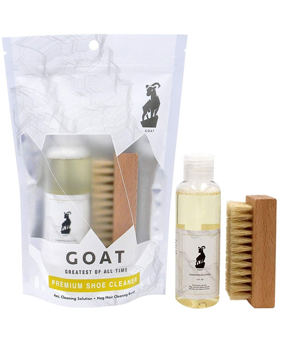 Premium Shoe Cleaner Kit Brush and Solution - Sneaker Cleaner Kit Leather, Suede, Canvas, White Sneakers and More by GOAT Greatest Of All Time