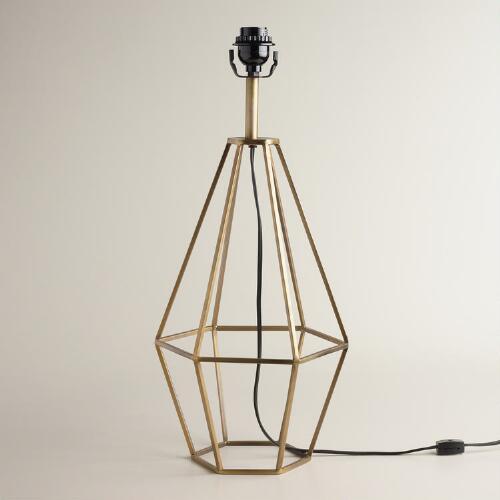 Brass Diamond Table Lamp Base | World Market