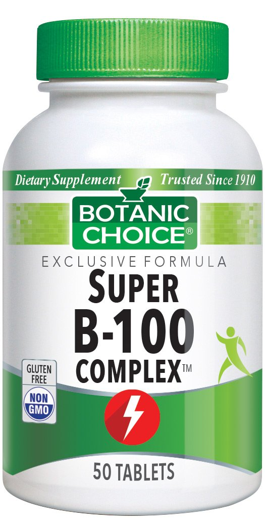 Botanic Choice Super B 100 Time-Release Vitamins,50 Tablets Pack of 5