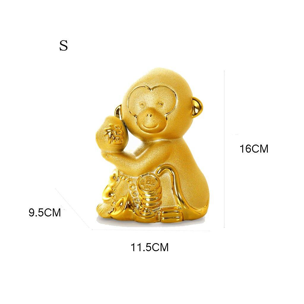 Piggy Bank Ceramic Decoration Monkey Cartoon Gift (Size : S) by XXDP (Image #2)