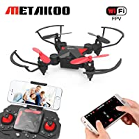 Metakoo Mini-Drohne für Kinder, WiFi-FPV HD Kamera, Höhenretention, 4 Kanäle 6-Achsen-Gyro, Headless-Modus, One-Key-Start / Landung / Rückkehr, Flug nach Flugbahn, Schwerkraftinduktion, 3D-Flips, M2