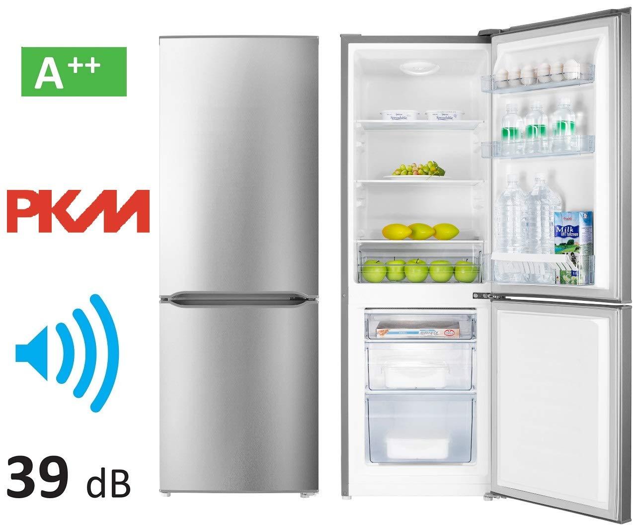 Combinación de frigorífico y congelador PKM KG 230,4 A++, acero ...