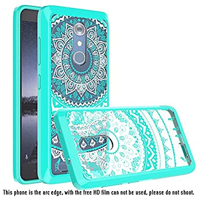 ZTE Zmax Pro / ZTE Carry Z981 Clear Case With HD Screen Protector, AnoKe Colors Dream Catcher Mandala Flower Slim Acrylic Hard TPU Bumper Hybrid For ZTE Zmax Pro Z981 - TM by AnoKe