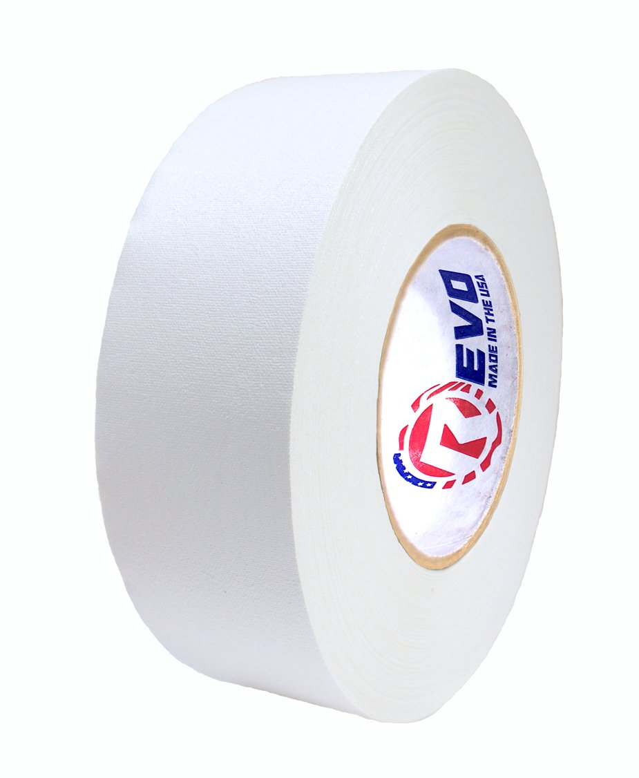 REVO Premium Professional Gaffers Tape (2'' x 60 yds) MADE IN USA (WHITE GAFFERS) Camera Tape- Stage Tape- Better than Duct Tape (Black, Blue, Brown, Gray, Green, Red, White, Yellow) SINGLE ROLL