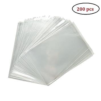MKISHINE Bolsas Transparentes, Bolsa plástico Transparente ...