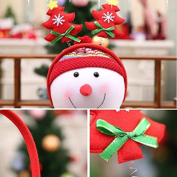 Qiusa Las Lindas Decoraciones navideñas, Cabeza de árbol, aro, Forma de árbol de Navidad, Cabeza Hebilla, Adorno de Navidad: Amazon.es: Hogar
