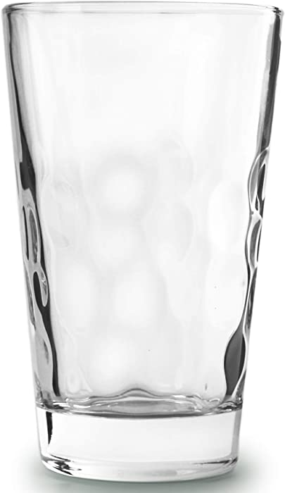 Circleware 45050 Coronado Heavy Base Highball Drinking Glasses Set of 4 Beverage Cups, Home Kitchen Tumbler Entertainment for Water, Juice, Milk, Beer, Whiskey, Vodka, Farmhouse Decor, 13.8 oz