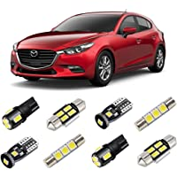 BRISHINE White Interior LED Lights Kit for Mazda 3 Hatchback 2014 2015 2016 2017 2018 Super Bright 6000K LED Interior…