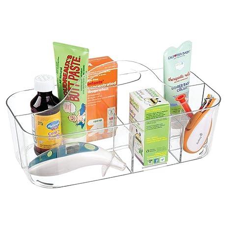 mDesign Canastilla con 6 compartimentos – Moderna caja organizadora de accesorios para bebes, ideal para el baño, el cambiador o el dormitorio ...