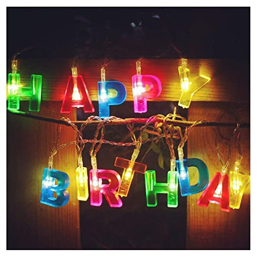 DHRH Luces navideñas,Cadenas Luces Feliz cumpleaños con ...