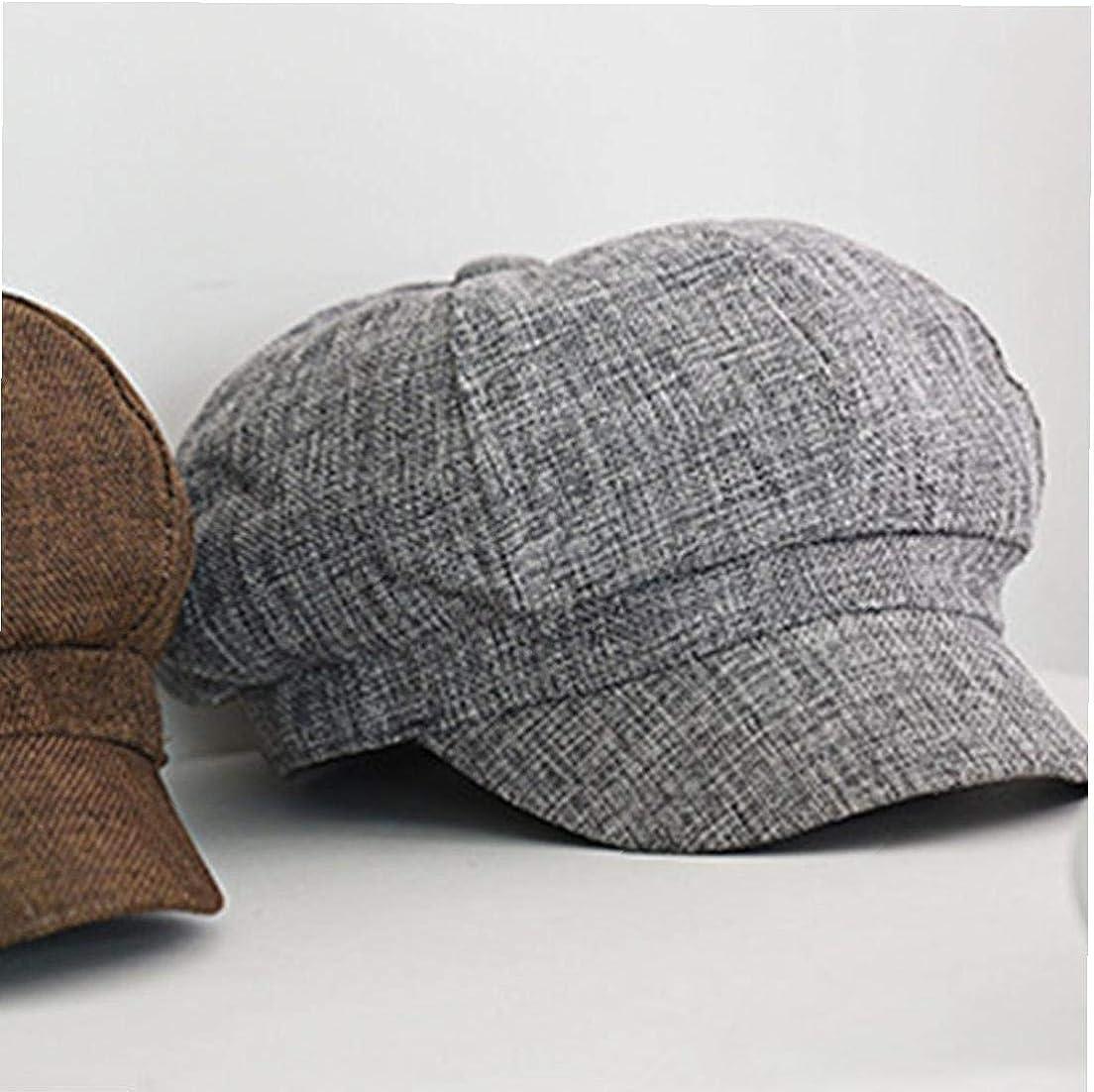 Bongles Women Cotton Linen Beret Caps Newsboy Hat Visor Hat Outdoor Sun Breathable Flat Hats