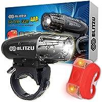 BLITZU Gator 320 AAA Battery Powered Bike Light Set...