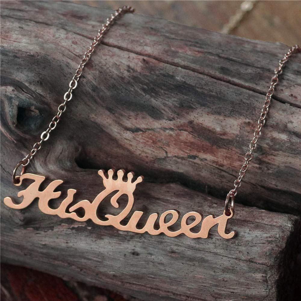 Iprome Custom Personalized Crown Pendant S925 Sterling Silver Name Necklace Jewelry Gift for Woman//Girl