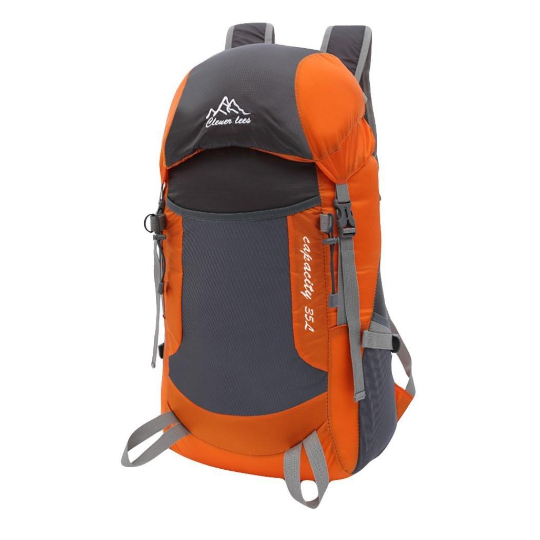cinhentバックパック男の子女の子メンズファッションナイロンスポーツロック登山旅行バッグ B07DPPS5Z6 オレンジ