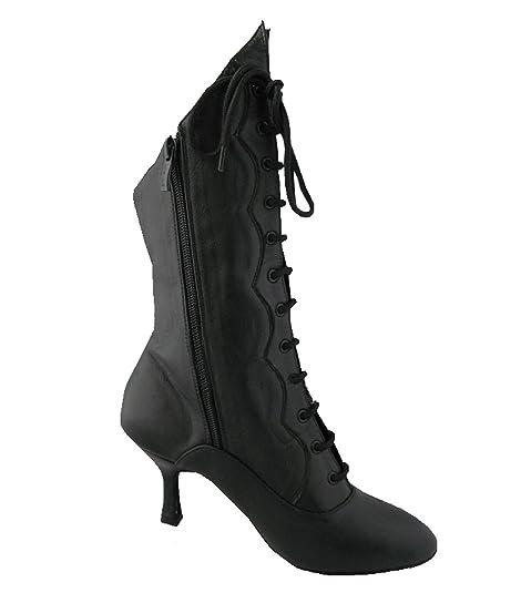 0e1443ef Botas de baile de salón para mujer de HenryG en piel negra, botas para salsa