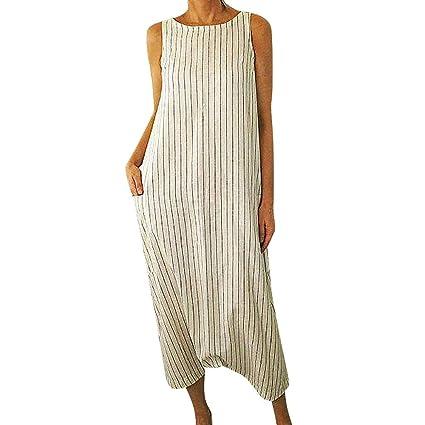 Wave166 Vestido de Mujer Verano Flojo Casual Largo Vestido ...