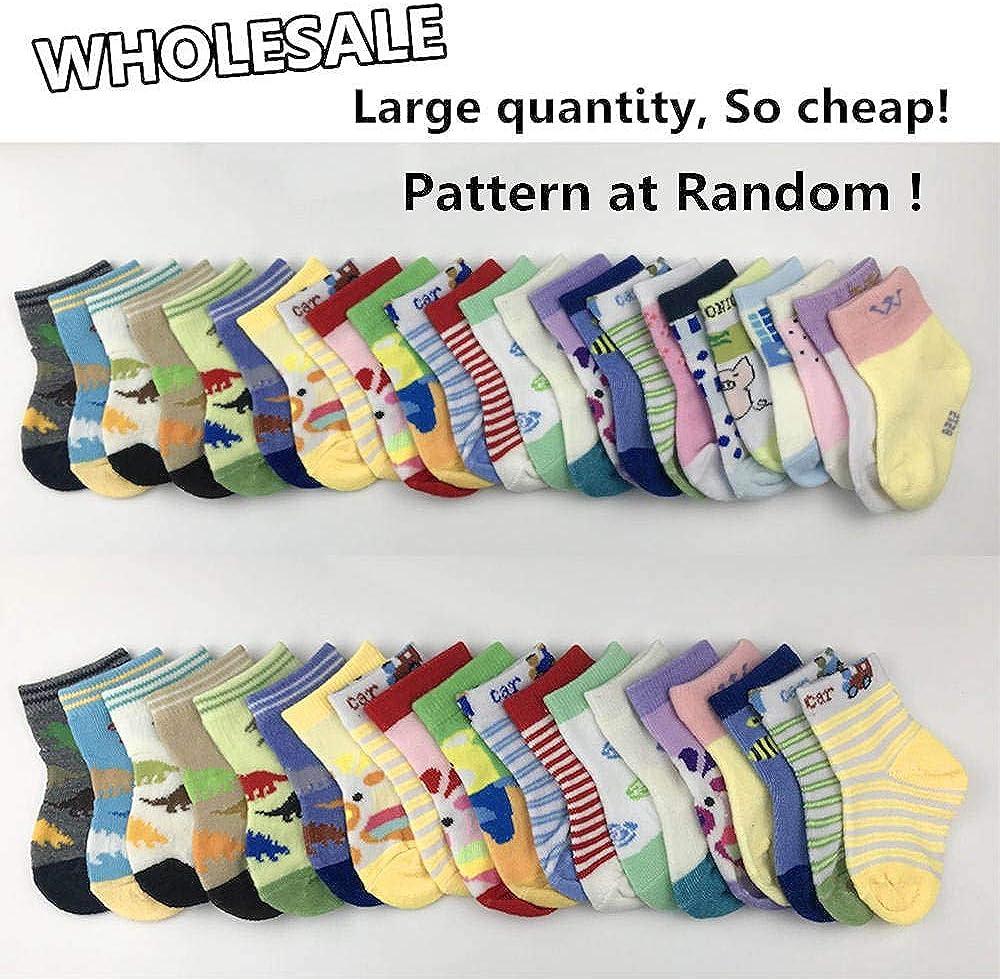 20 Pairs Baby Socks Wholesale for Infant Toddler Kids Children Pattern at Random