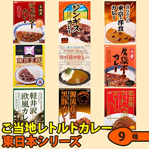 ご当地レトルトカレー東日本シリーズ9種類セット(インスタントカレー)