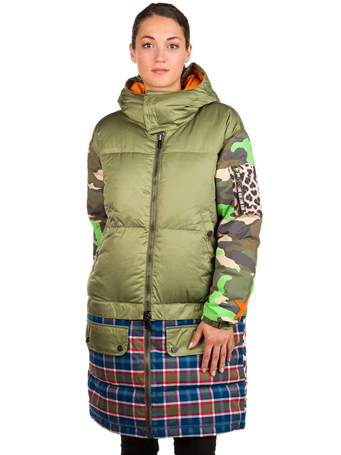 Amazon.com: Adidas Burton Lamb Buzzcut Down Olvine Woodcm Riotp-Green-S: Clothing