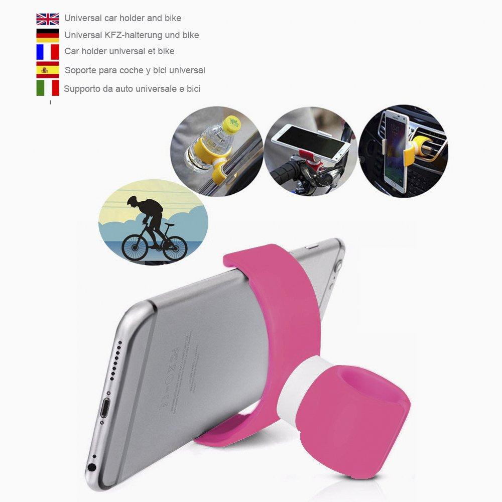 Soporte móvil coche soporte móvil moto soporte móvil bicicleta rosa: Amazon.es: Coche y moto