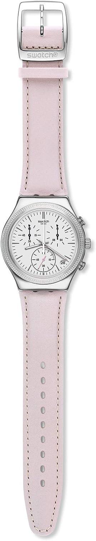 Swatch Reloj Cronógrafo para Mujer de Cuarzo con Correa en Cuero YCS599