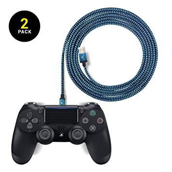 EXINOZ Cable Trenzado de Carga 2 m para Control de PS4 ...