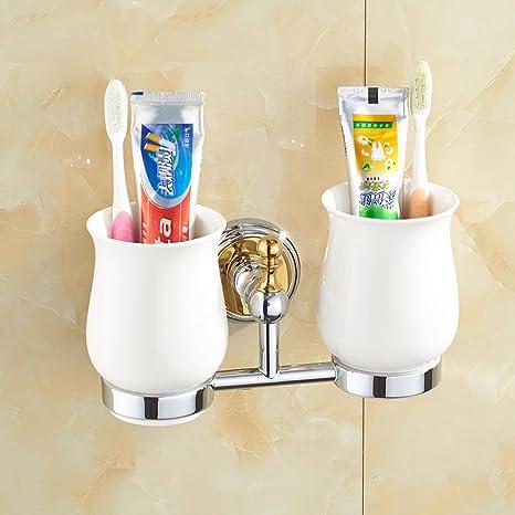 NHD de cobre Europea Dual de Cup cerámica para cepillos de dientes cristal, vasos,