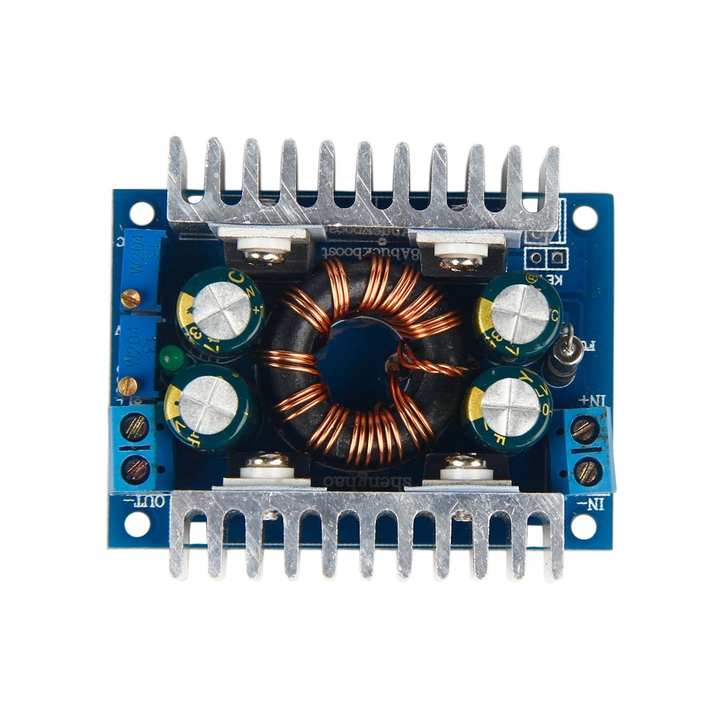 GAOHOU Automatic Boost/Buck Converter CC CV 5-30V To 1-30V 8A 12V/24V Regulator 100W AA3842