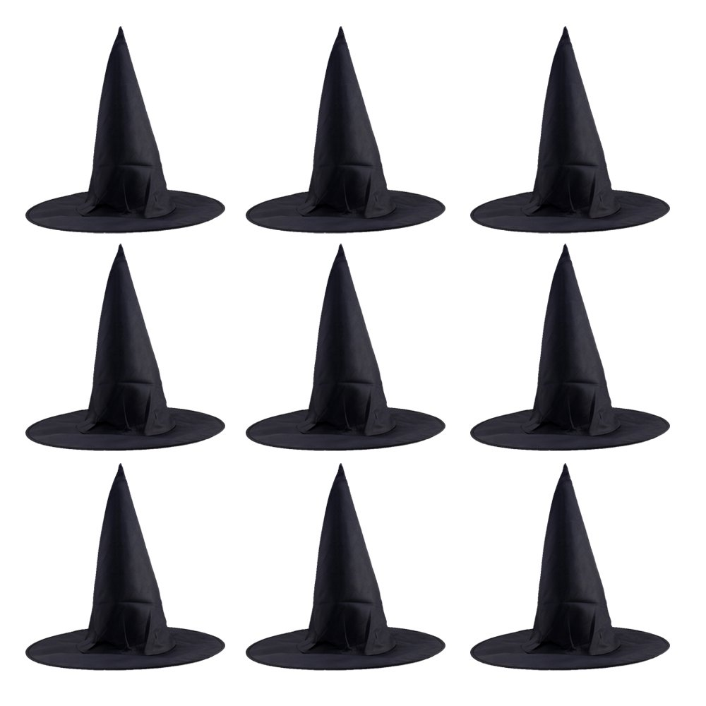 10 Pcs Adulte Unisexe Noir Oxford Tissu Chapeau de Sorcière Pour Halloween Costume Accessoire Cap Beetest®