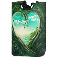 CaTaKu Happy Valentine Laundry Hamper, Love Tree Laundry Basket Box Big Storage Waterproof Easy Carry for Family…