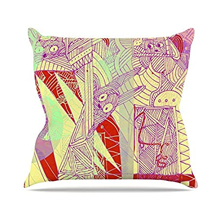 Kess InHouse Marianna Tankelevich Bunny Land Throw Pillow 20 by 20 Pink Rabbits